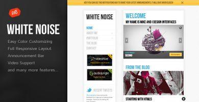 White Noise - قالب وردپرس ریسپانسیو