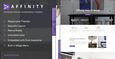 قالب Affinity - قالب وردپرس مبلمان و طراحی داخلی