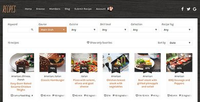 قالب Recipes - قالب وردپرس