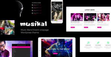 قالب Musikal - قالب وردپرس موزیک تک صفحه ای