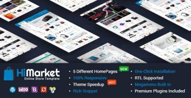 قالب های مارکت | HiMarket - قالب وردپرس فروشگاهی