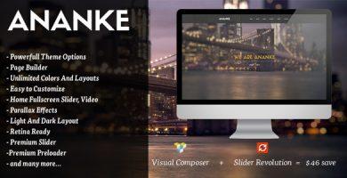 Ananke - قالب وردپرس تک صفحه ای پارالاکس