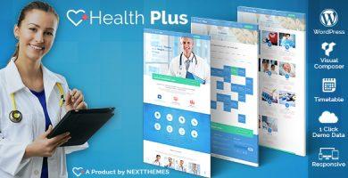 قالب Health Plus - قالب وردپرس بهداشت و درمانگاه