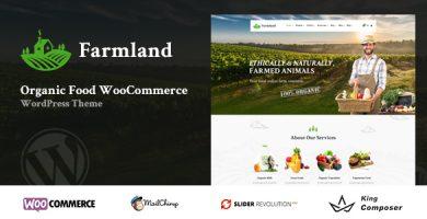 قالب Farmland - قالب وردپرس فروشگاه محصولات ارگانیک