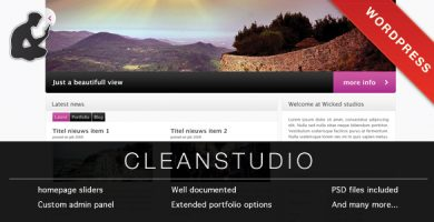 قالب کلین استودیو | CLEAN STUDIO - قالب وردپرس
