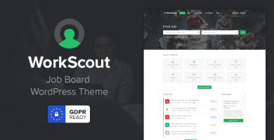 WorkScout - قالب وردپرس مشاغل