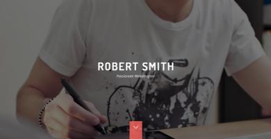 قالب Robert Smith - قالب وردپرس رزومه