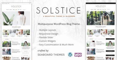 قالب Solstice - قالب وردپرس فروشگاهی