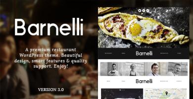 Barnelli - قالب ریسپانسیو وردپرس رستوران