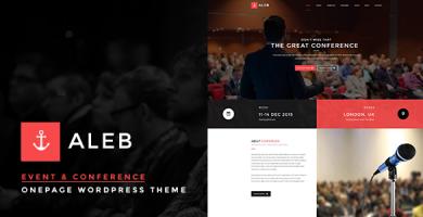 Aleb - قالب تک صفحه ای رویداد و کنفرانس