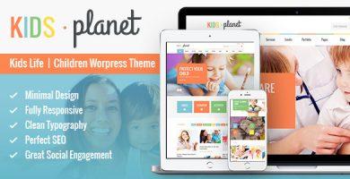 قالب Kids Planet - قالب وردپرس چندمنظوره کودکان