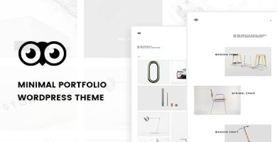 قالب Owlfolio - قالب وردپرس نمونه کار شخصی