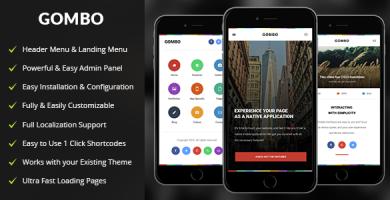قالب Gombo - قالب وردپرس موبایل