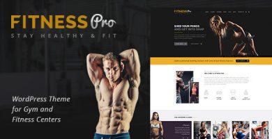 قالب Fitness Pro - قالب وردپرس باشگاه تناسب اندام