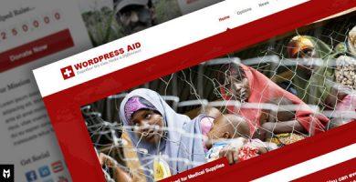 قالب Aid - قالب وردپرس خیریه