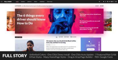قالب FullStory - قالب وردپرس برای وبلاگ، مجله و روزنامه
