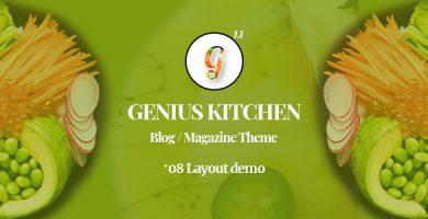 قالب Genius Kitchen - قالب وردپرس مجله تغذیه