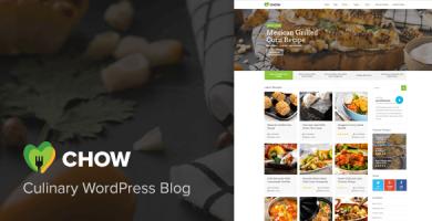 قالب Chow - قالب وردپرس دستور غذا و غذا
