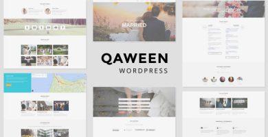 قالب Qaween - قالب وردپرس عروسی