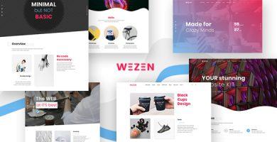 Wezen - قالب وردپرس نمونه کار خلاقانه