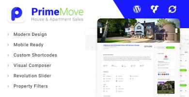 قالب Primemove - قالب وردپرس بنگاه معاملات ملکی
