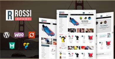 VG Rossi - قالب وردپرس فروشگاهی