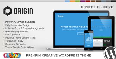 WP Origin - قالب وردپرس خلاقانه