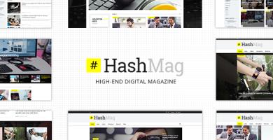 قالب HashMag - قالب مجله دیجیتال