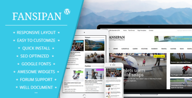 قالب Fansipan - قالب وردپرس مجله و اخبار