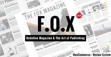 قالب The Fox - قالب وردپرس مجله
