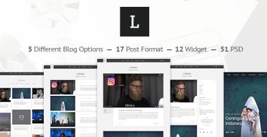 قالب LaRead - قالب وبلاگ وردپرس