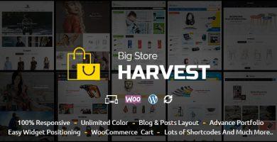 قالب Harvest - قالب ووکامرس چند منظوره