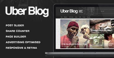 قالب Uber Blog - قالب وردپرس وبلاگ