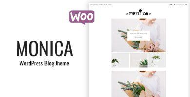 قالب Monica - قالب سایت بلاگ و فروشگاهی شخصی وردپرس