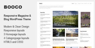 قالب Booco - قالب وردپرس بلاگ و مجله