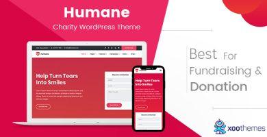Humane - قالب وردپرس خیریه