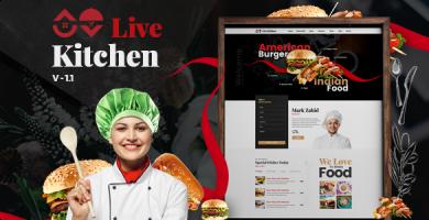 قالب Livekitchen - قالب وردپرس رستوران و کافه