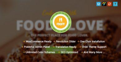 قالب Foody - قالب وردپرس کافه و رستوران