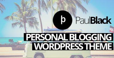 قالب PaulBlack - قالب وردپرس وبلاگ شخصی