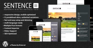 قالب Sentence - قالب وردپرسی بلاگ و نمونه کار