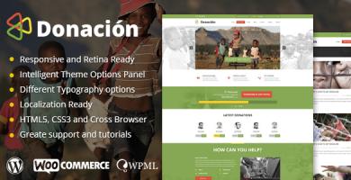 Donation - قالب وردپرس ریسپانسیو