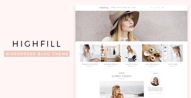 قالب Highfill - قالب سایت شخصی وردپرس