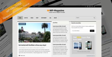 قالب WP-Magazine - قالب وردپرس ریسپانسیو