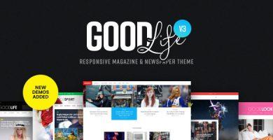 قالب GoodLife - قالب وردپرس ریسپانسیو برای مجله و روزنامه