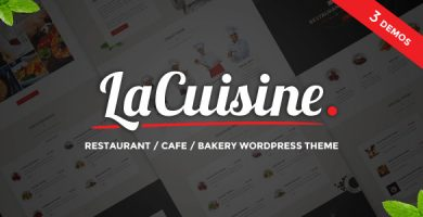 قالب LaCuisine - قالب وردپرس رستوران