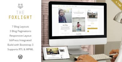 قالب Foxlight - پوسته وبلاگ شخصی وردپرس
