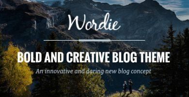 Wordie - قالب بلاگ وردپرس فوق العاده