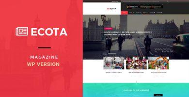 قالب Ecota - قالب وردپرس خبری و مجله