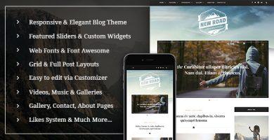 قالب NewRoad - قالب وبلاگ وردپرس