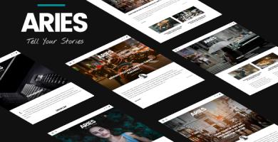 قالب ARIES - قالب وردپرس وبلاگی